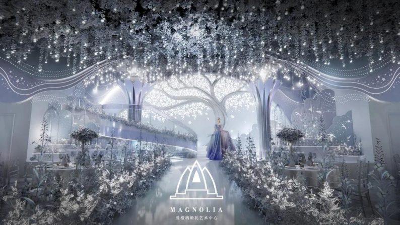 婚礼堂发布:上海曼格纳全新设计【萦树踏水】  第4张