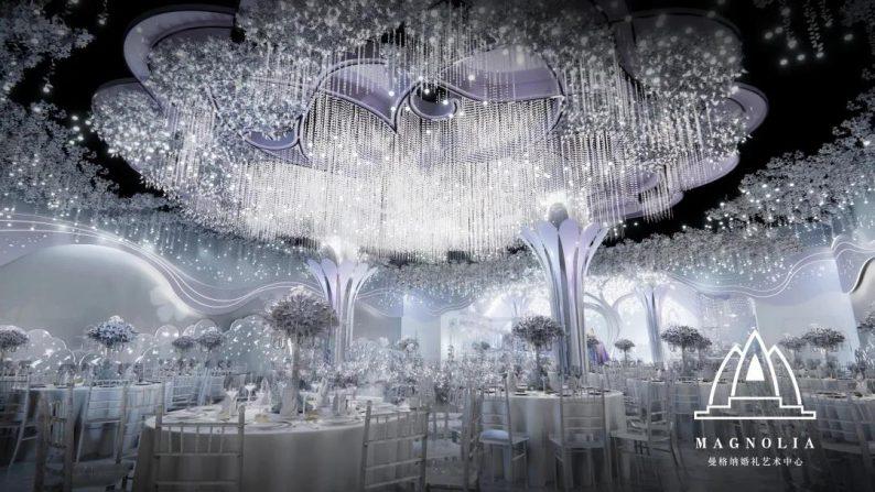 婚礼堂发布:上海曼格纳全新设计【萦树踏水】  第8张