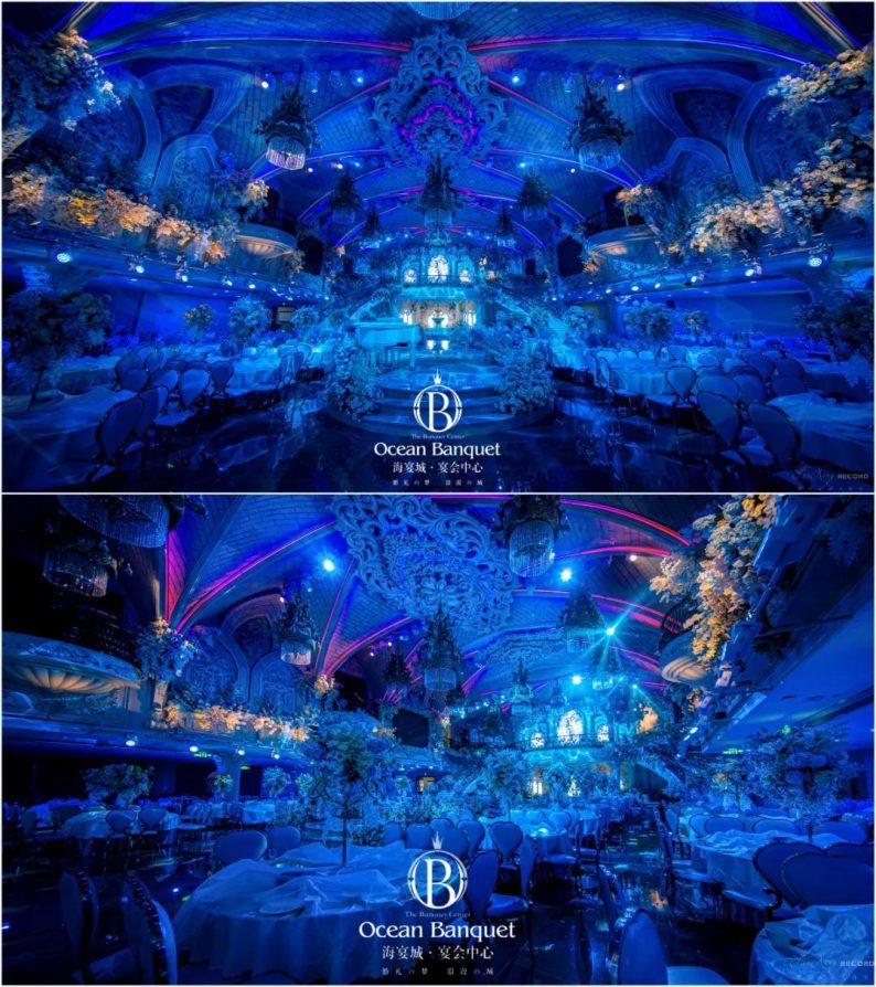 婚礼堂发布:高定婚礼堂!2万方东营海宴城惊现美人鱼表演  第4张