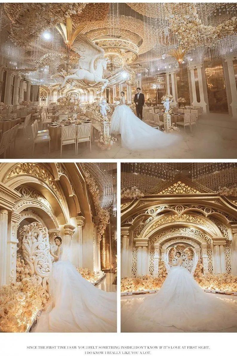 婚礼堂发布:花嫁丽舍最新宴会厅《天空之城》  第4张