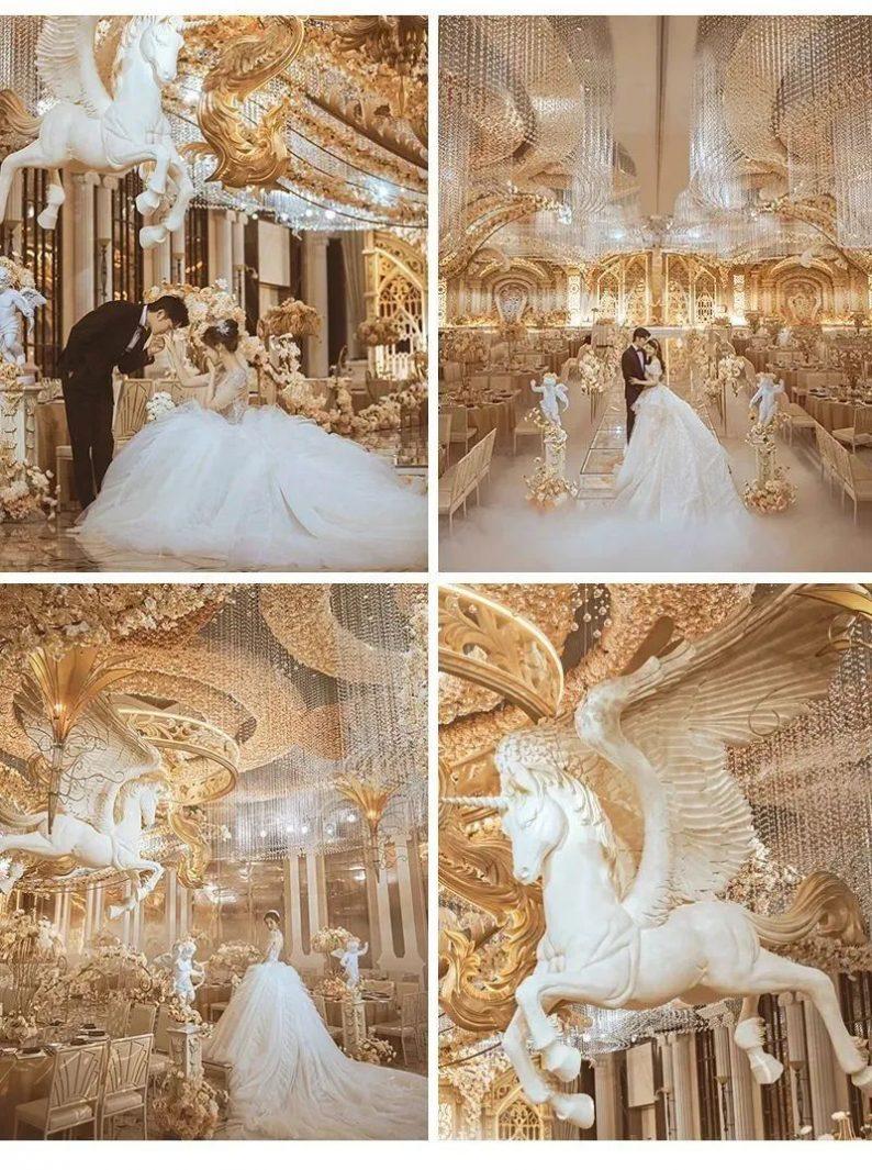 婚礼堂发布:花嫁丽舍最新宴会厅《天空之城》  第7张