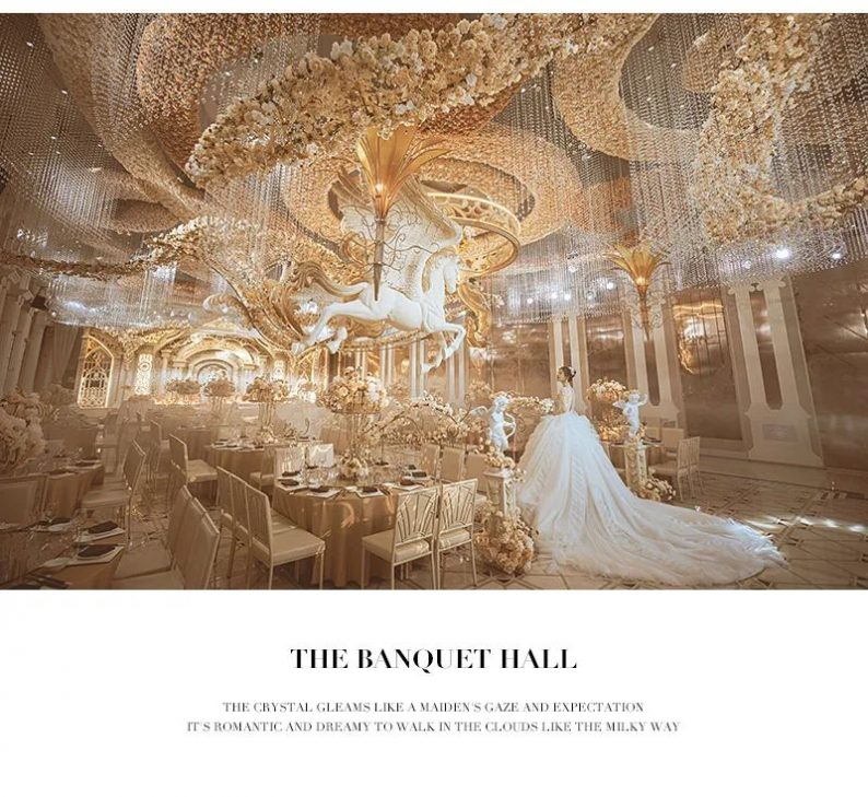 婚礼堂发布:花嫁丽舍最新宴会厅《天空之城》  第9张