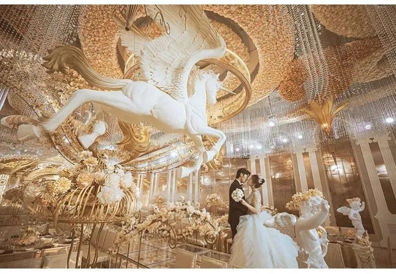 婚礼堂发布:花嫁丽舍最新宴会厅《天空之城》  第10张