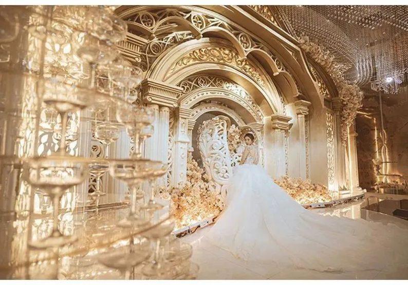 婚礼堂发布:花嫁丽舍最新宴会厅《天空之城》  第14张